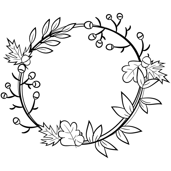 Autumn Wreath Craft Stamp Simply Stamps