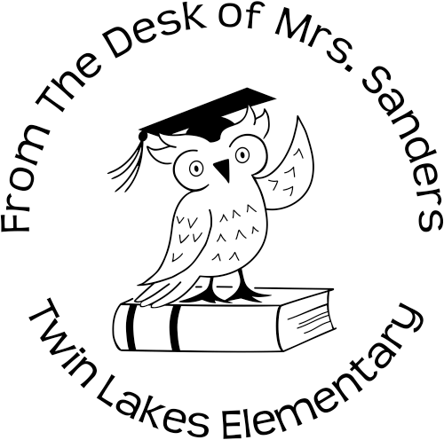 Owl From The Desk Of Teacher Stamp