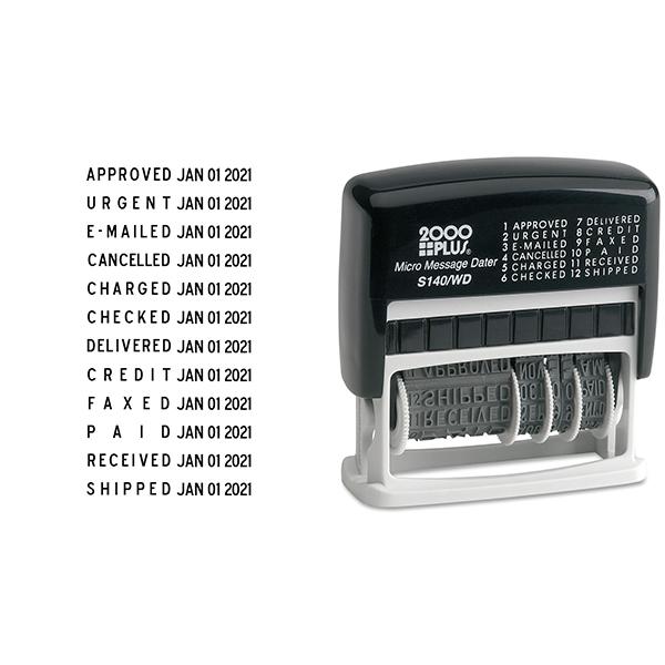 Cosco Micro Message Dater - 12 Phrase Messages Body and Imprint