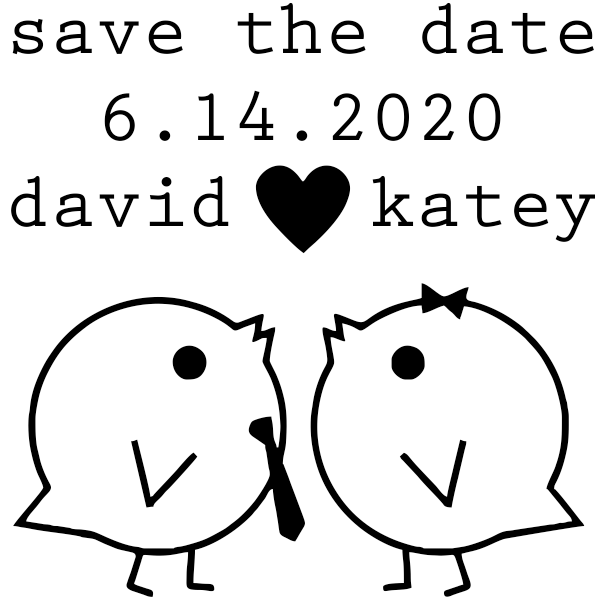 Save the Date Lovebirds Stamp