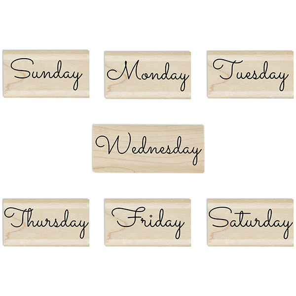 Days of the Week Stamp Set