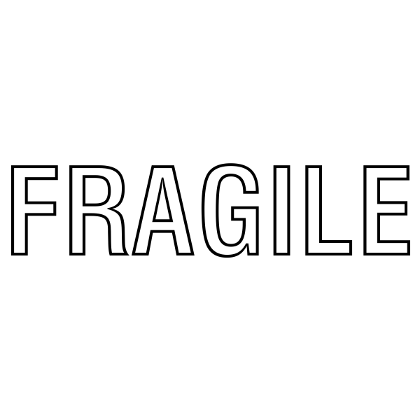 Fragile Stock Stamp