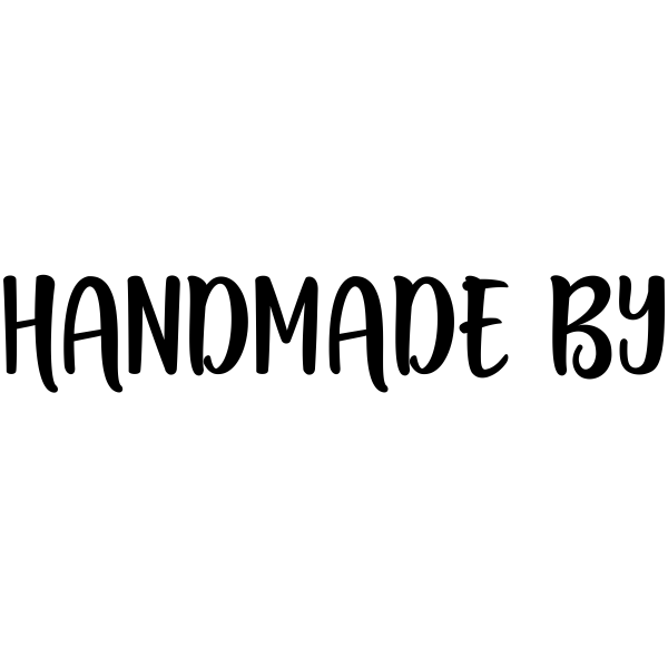 Handmade By Stamp Imprint Example
