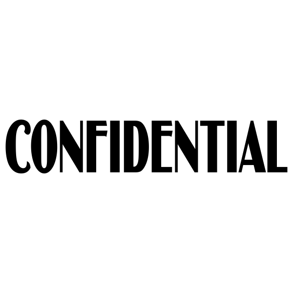 Confidential Stylish Stock Stamp