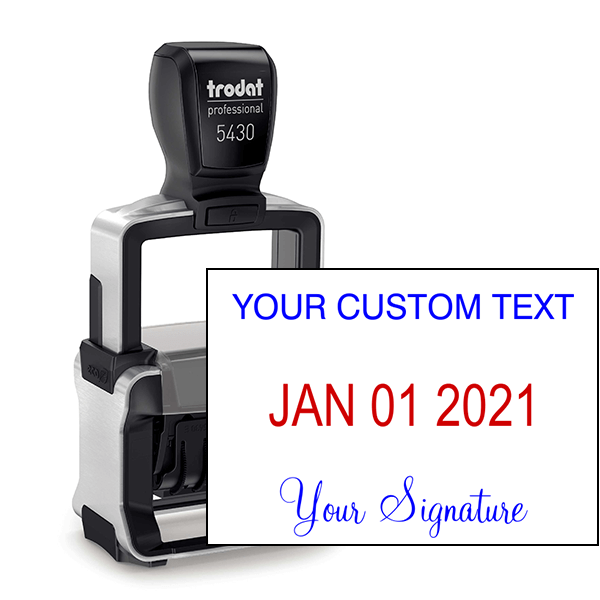 Trodat Professional Custom Text With Your Signature Bottom Stamp