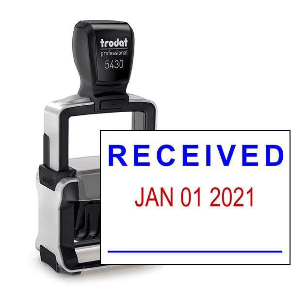 Trodat Professional Received Date Stamp Simply Stamps