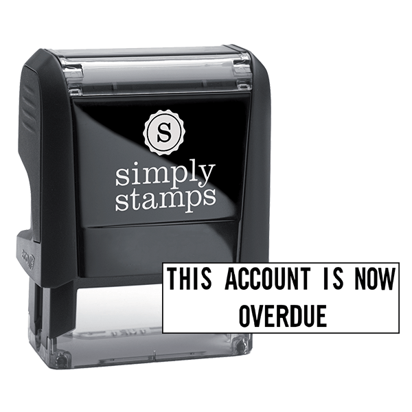 This Account Is Overdue Stock Stamp