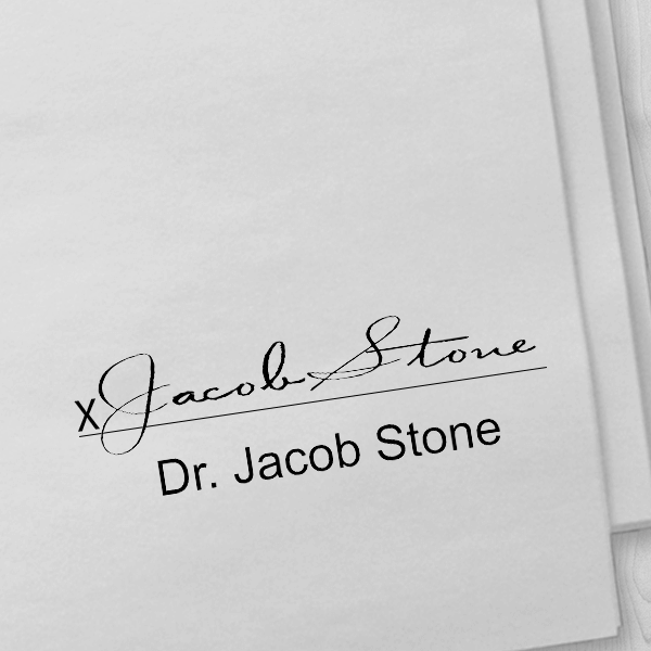 Doctor Signature Stamp Imprint Example - Self-Inking