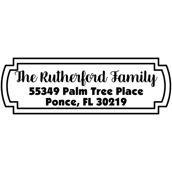 Rutherford Fancy Border Address Stamp