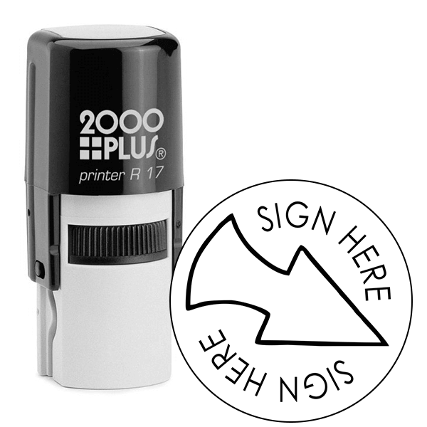 Sign Here Arrow Self Inking Stamp