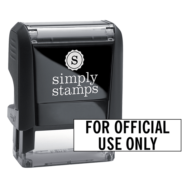 For Official Use Only Stock Stamp