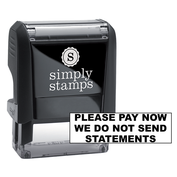 Please Pay Now We Do Not Send Statements Stock Stamp