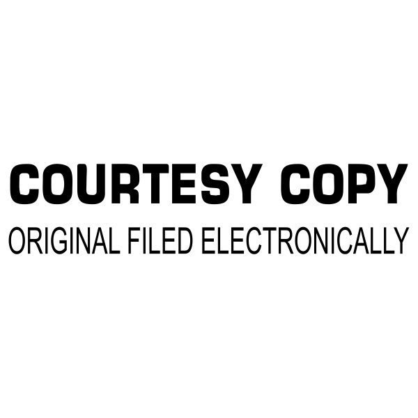 Courtesy Copy Original Filed Electronically Stock Stamp