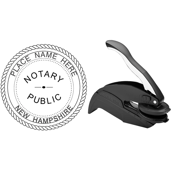 New Hampshire Notary Seal - Round Body and Design
