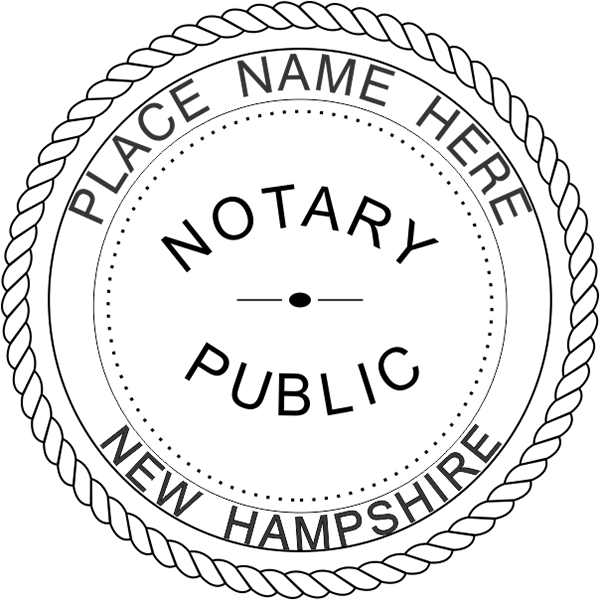 New Hampshire Notary Seal - Round Imprint Example