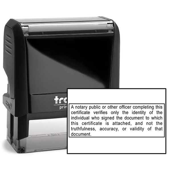 California Notary Disclosure Stamp
