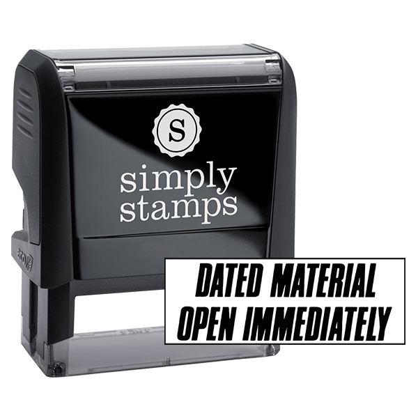 Dated Material Open Immediately Stock Stamp