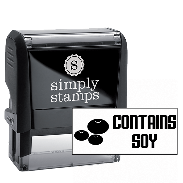 Contains Soy Stamp