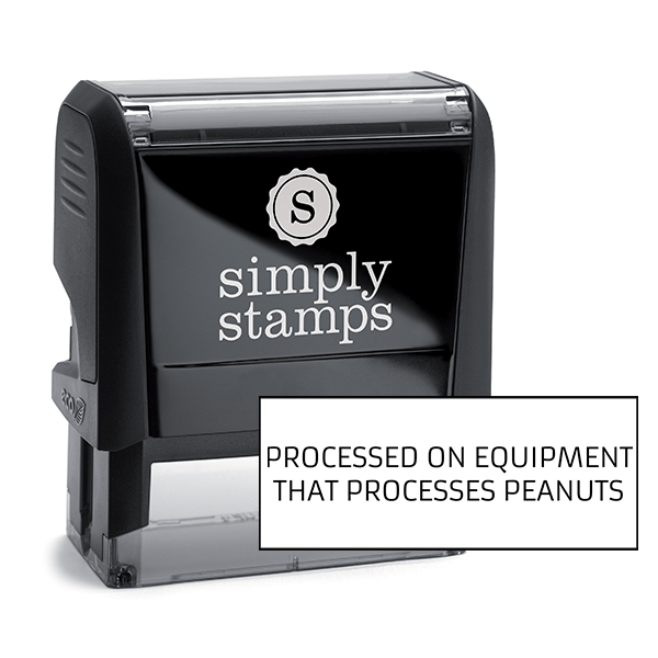 Processed On Equipment Custom Stamp