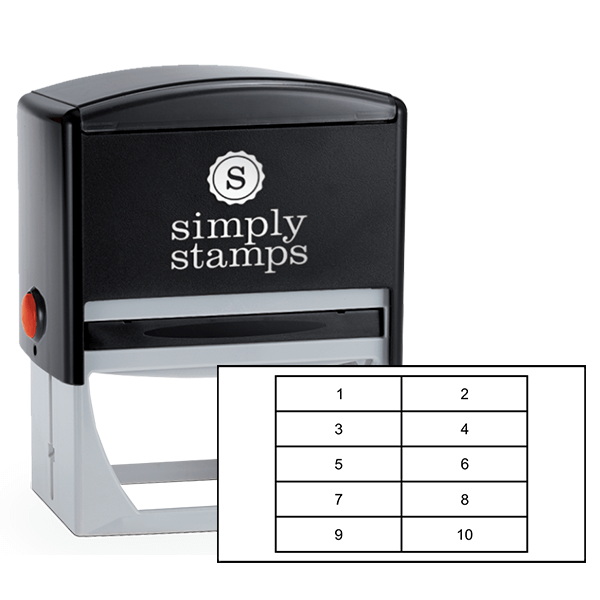 Long Rectangles for Card Loyalty Stamp