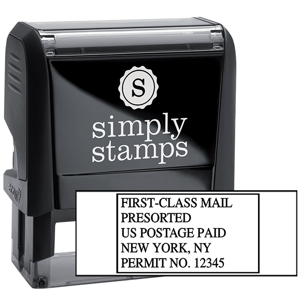 Pre-Sorted First Class Postage Paid Permit Stamp