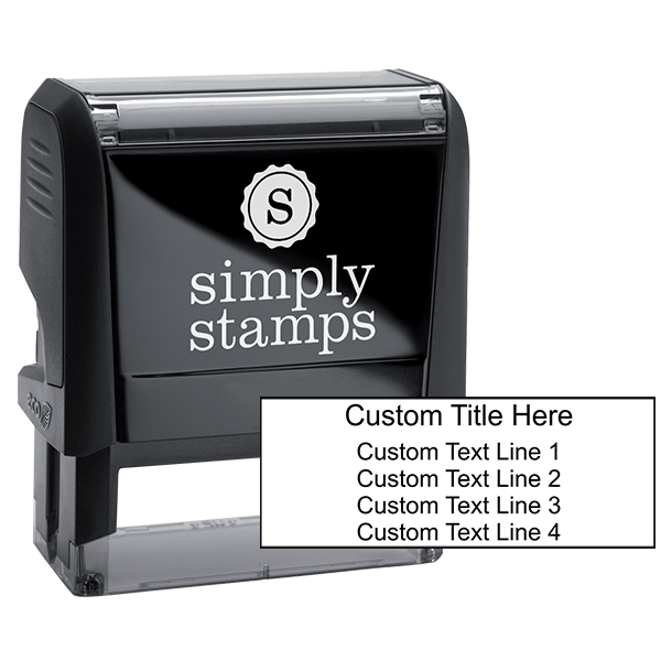 4 Lines With Title Custom Self-Inking Stamp