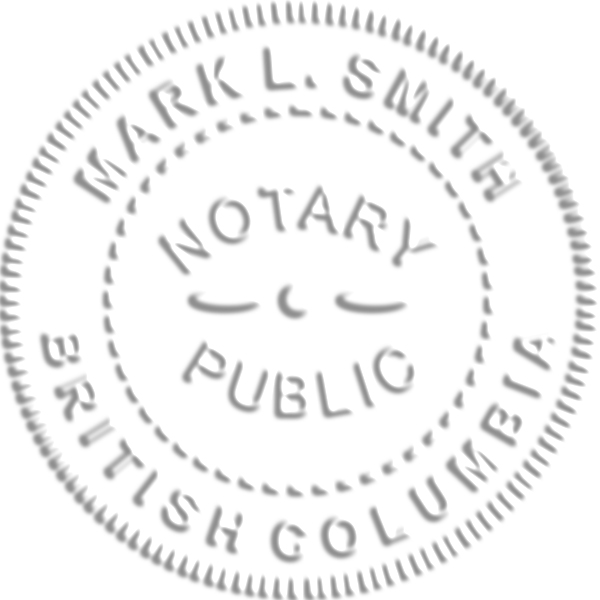 Notary for British Columbia Embossed Seal