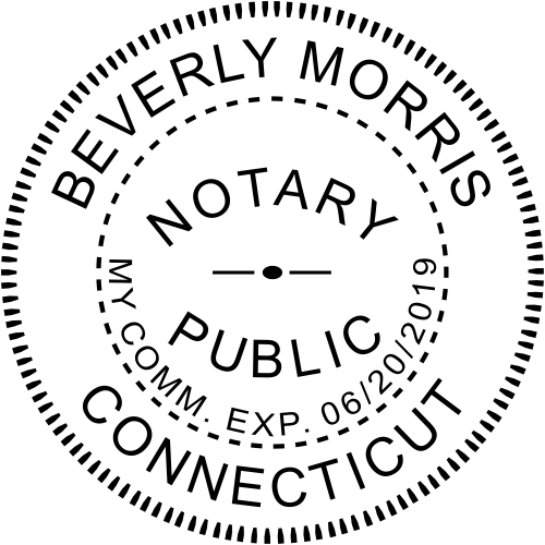 Connecticut State Embosser Notary Seal