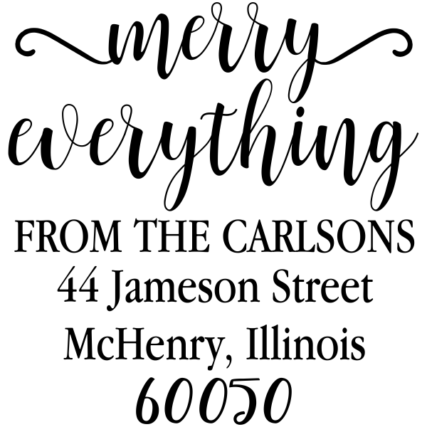 Merry Everything Holiday Address Stamp