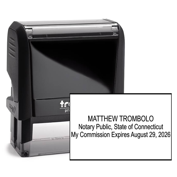 Connecticut Notary Rectangle Stamp