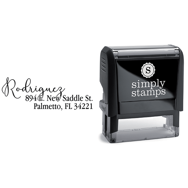 Script Overlay Address Stamp Body and Design