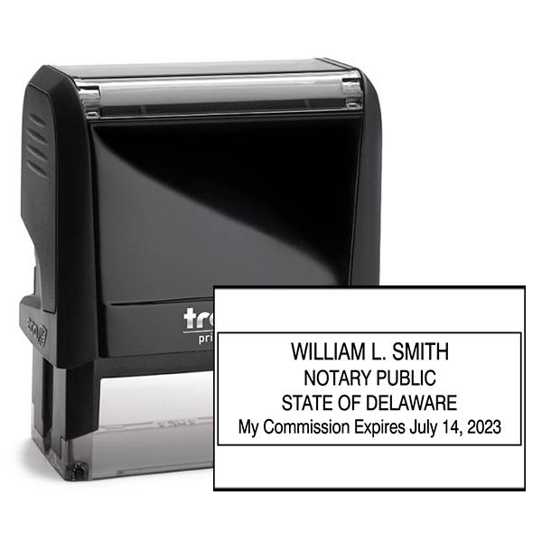 Delaware Notary Rectangle Stamp Seal