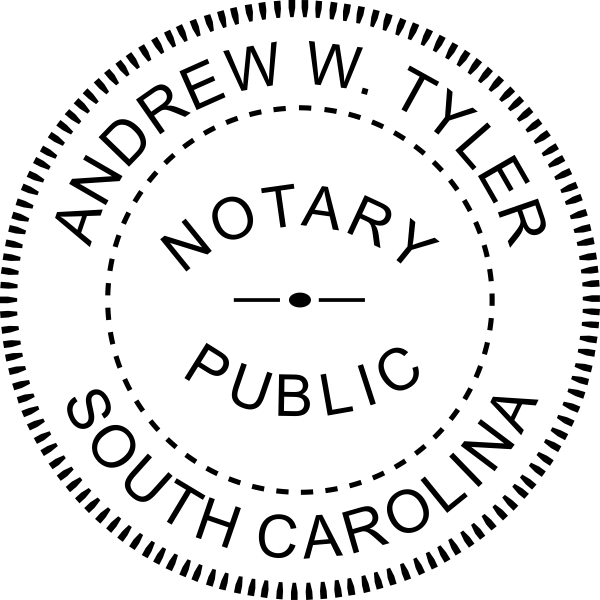South Carolina Notary Round Seal Embosser