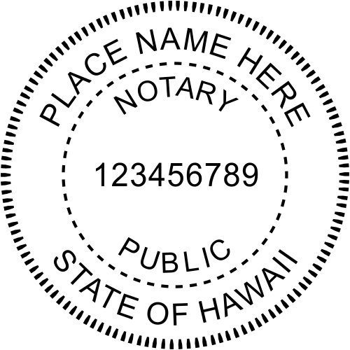 Hawaii Notary Seal - Notary Stamp - Simply Stamps
