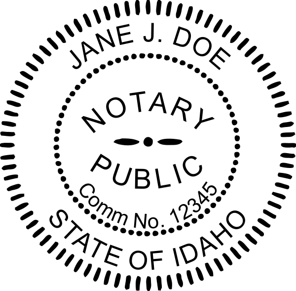Official Notary Public Round Seal