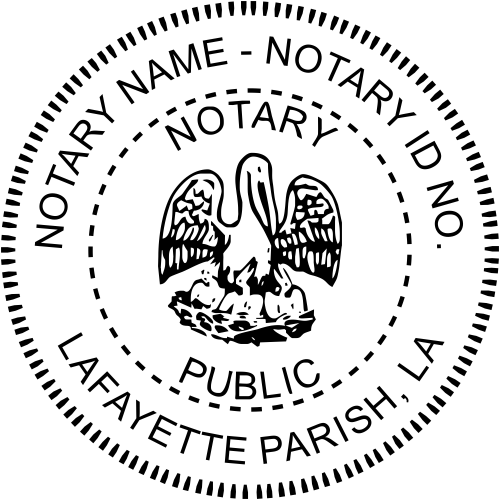 Louisiana Notary Round Seal - Simply Stamps