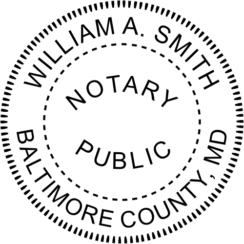 Maryland Official Notary Seal Embosser