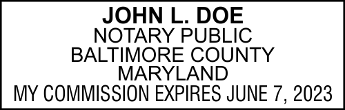 Maryland Notary Seal Stamp