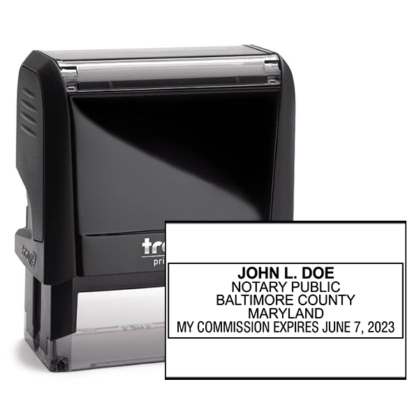 Maryland Notary Rectangle Stamp