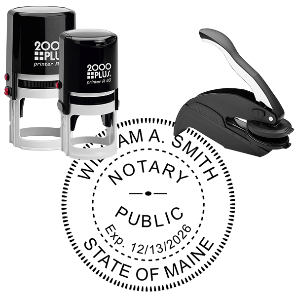 Maine Notary Seal Stamp