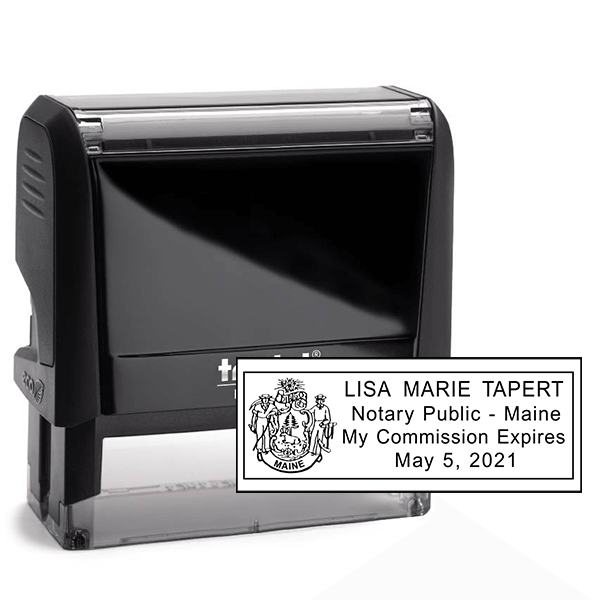 Maine Notary Rectangle Stamp