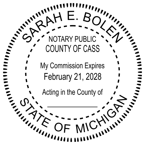 Michigan Notary Republic Seal Stamp
