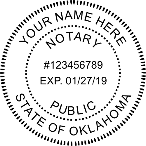 Oklahoma Official Notary Seal Embosser