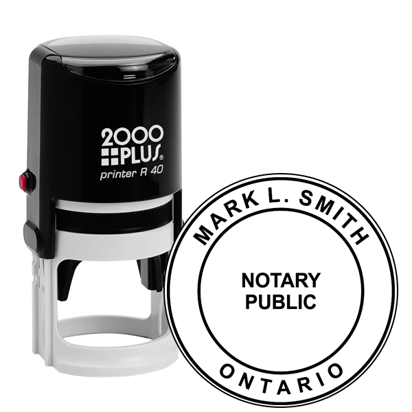 Ontario Canada Notary Seal Stamp