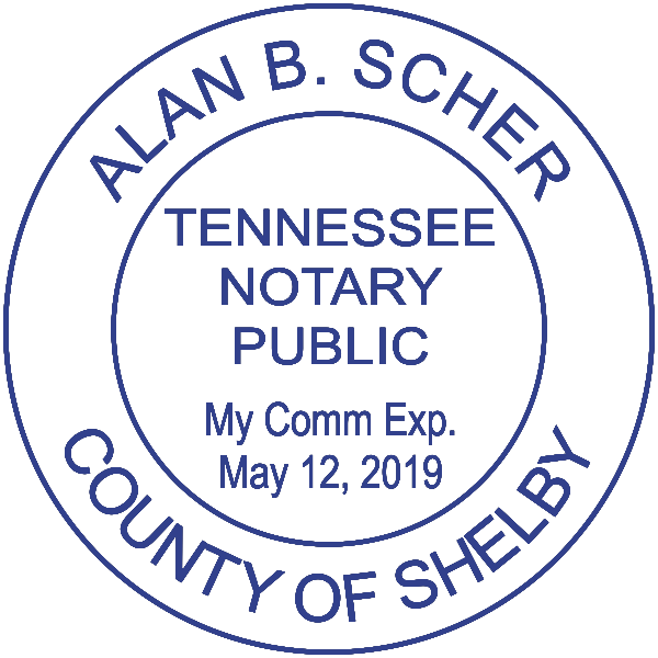 Tennessee Notary Round Imprint