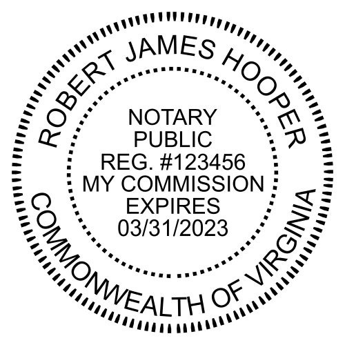 Virginia Notary Round Seal - Simply Stamps