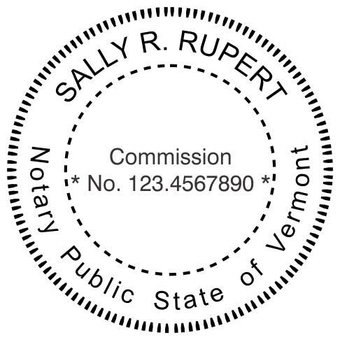 Vermont Notary Round Seal Stamp