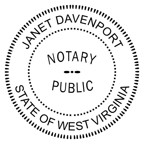 West Virginia Notary Seal Stamp