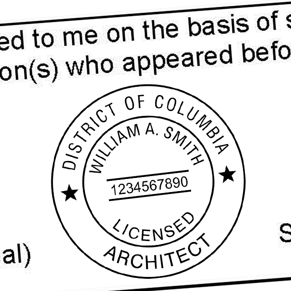 District of Columbia Architect Seal Imprint