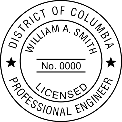 District of Columbia Engineer Stamp Seal